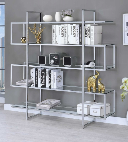 801304 Bookcase - Chrome