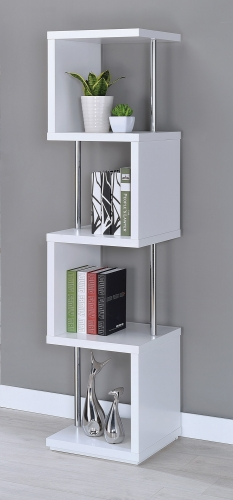 801418 Bookcase - White
