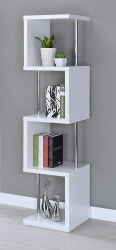 801418 Bookcase - White