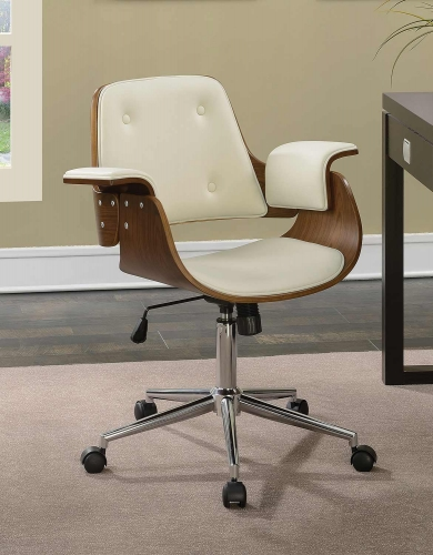 801428 Office Chair - Ecru Leatherette
