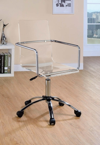 Amaturo Office Chair - Clear/Chrome