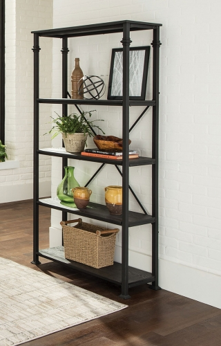 801440 Double Bookcase - Dark Grey