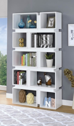 801447 Bookcase - White