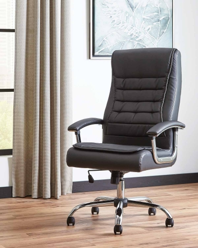 801528 Office Chair - Chrome/Black