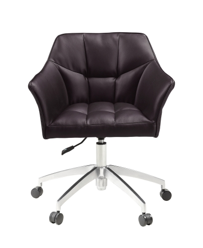 801539 Office Chair - Brown/Aluminum