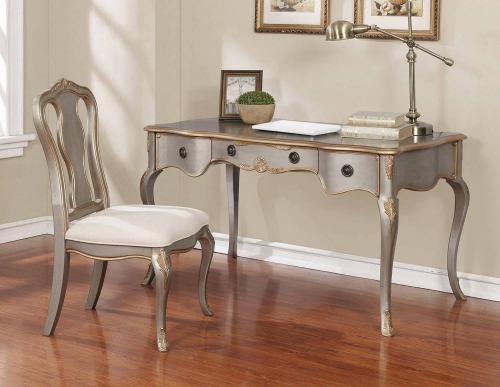 801681 2-PC Desk Set - Gold Brushed Silver