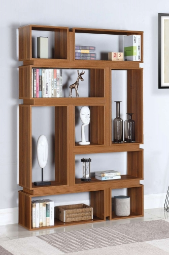 801834 Bookcase - Light Walnut