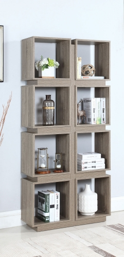801845 Bookcase - Dark Taupe