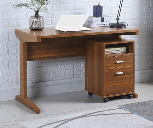 801916 2-PC Desk Set - Light Walnut