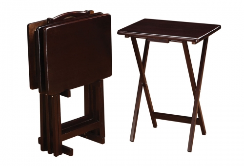 901081 5-Piece Tray Table Set - Cappuccino