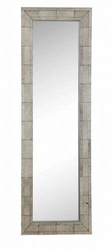 901807 Floor Mirror - Antique Silver