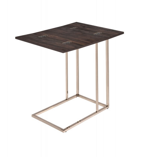 902932 Accent Table - Chestnut/Chocolate Chrome