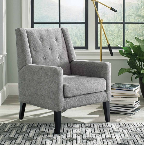 903379 Accent Chair - Taupe/Black