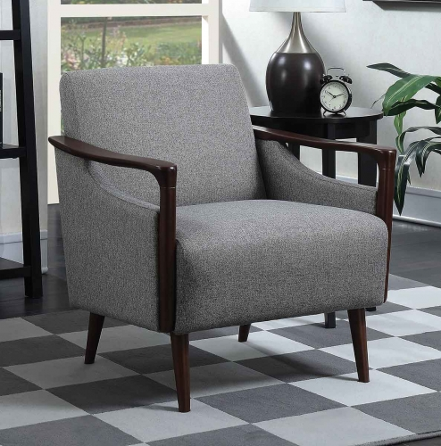904046 Accent Chair - Grey/Brown