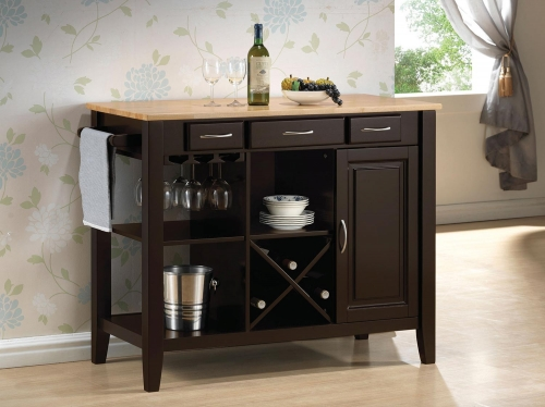 910028 Kitchen Island - Natural Brown/Cappuccino