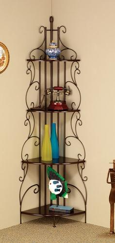 910038 Corner Bookcase - Cappuccino