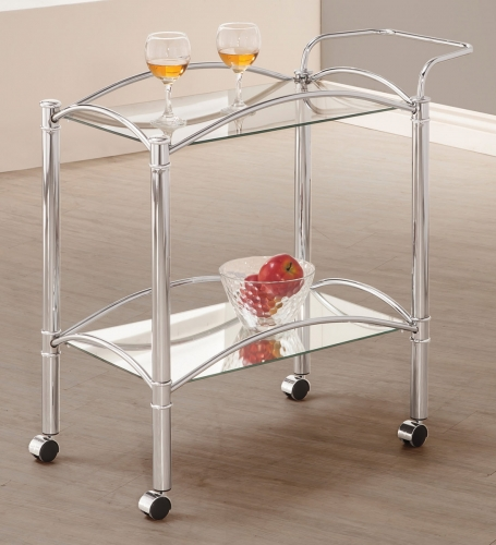 910077 Serving Cart - Chrome