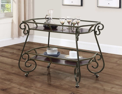 910143 Serving Cart - Cappuccino
