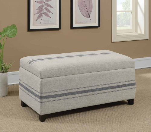 910151 Accent Bench - Grey/Blue