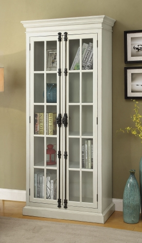 910187 Tall Cabinet - Antique White