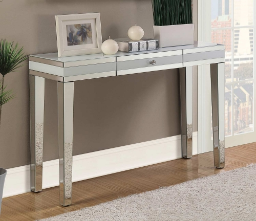 930011 Console Table - Clear Mirror