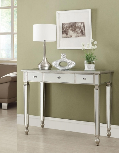 950014 Console Table - Antique Silver