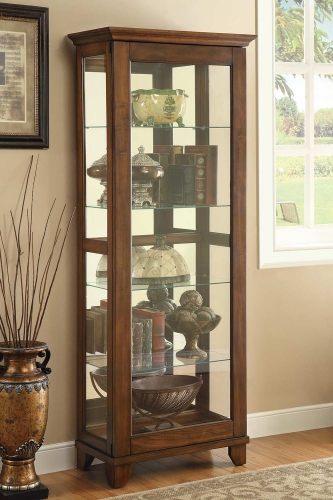 950188 Curio Cabinet - Warm Brown
