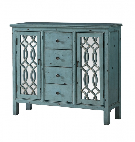 950736 Accent Cabinet - Antique Blue