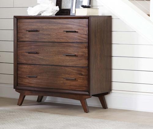 950760 Accent Cabinet - Warm Brown/Black