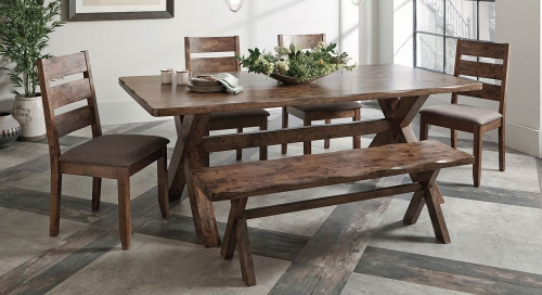 Alston Rectangular Dining Set - Knotty Nutmeg