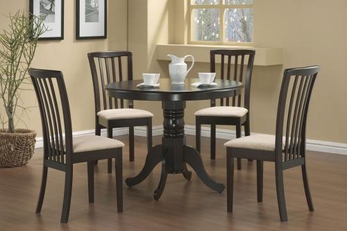 Brannan Round Pedestal Dining Set - Cappucino