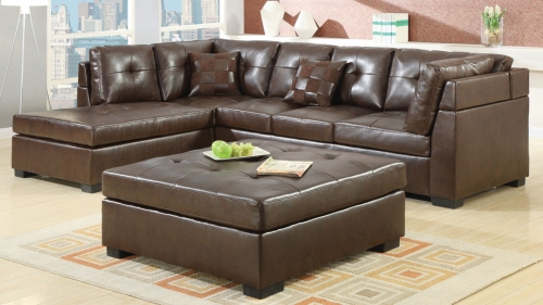 Darie Sectional Sofa Set - Brown