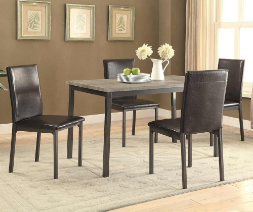Garza Rectangular Dining Set - Black