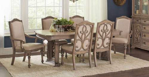 Iliana Rectangular Dining Set - Antique Linen