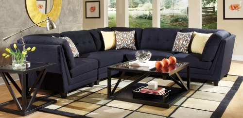 Keaton Sectional Sofa Set - Blue