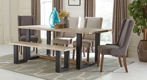 Levine Rectangular Dining Set - Weathered Grey