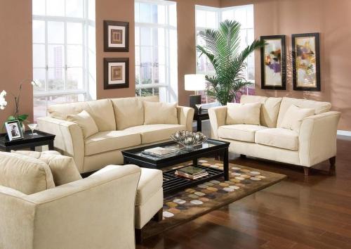Park Place Sofa Set - Cream