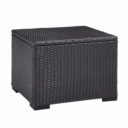 Biscayne Outdoor Wicker Coffee Table - Brown