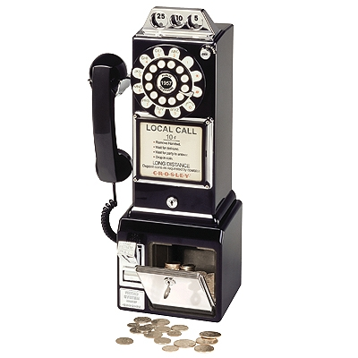 1950s Classic Pay Phone-Black