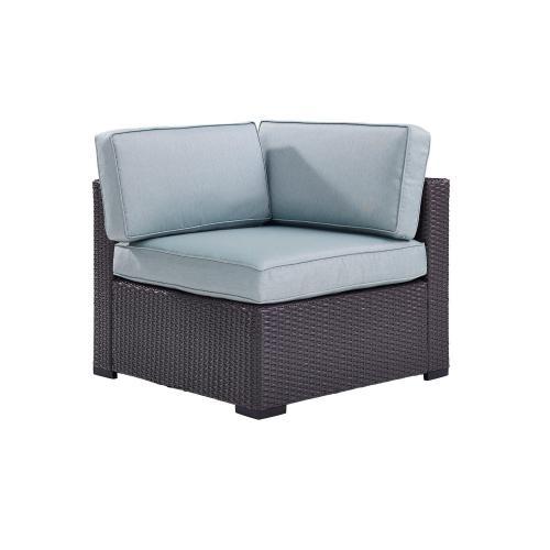 Biscayne Outdoor Wicker Corner Chair - Mist/Brown