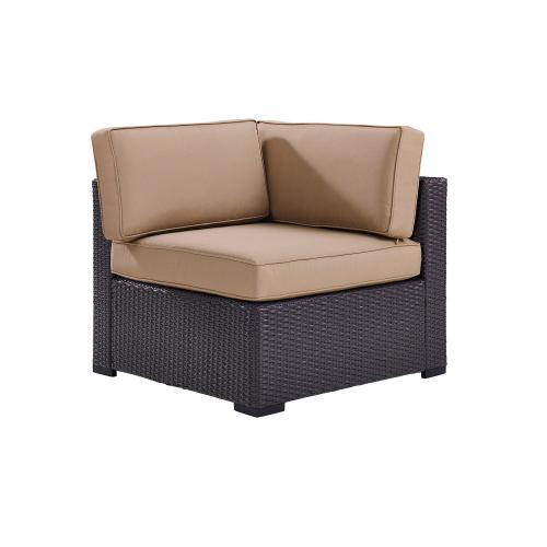 Biscayne Outdoor Wicker Corner Chair - Mocha/Brown