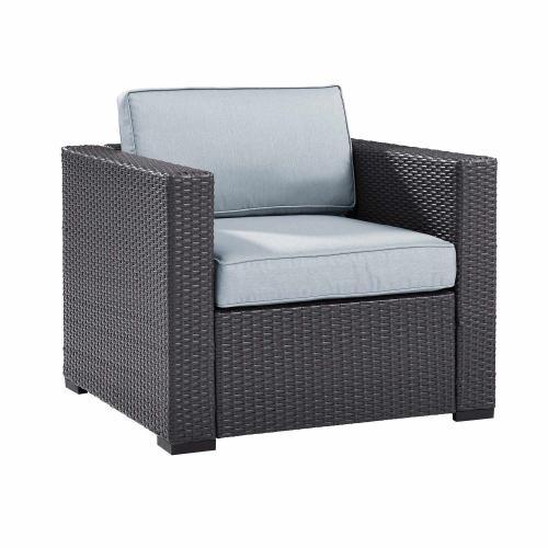 Biscayne Outdoor Wicker Armchair - Mist/Brown