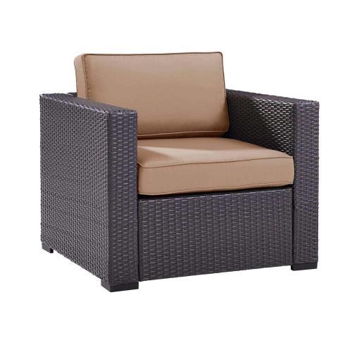 Biscayne Outdoor Wicker Armchair - Mocha/Brown