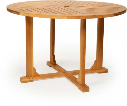 Teak Round Dining Table - 48