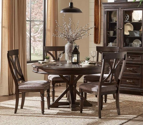 Cardano Round Dining Set - Driftwood Charcoal