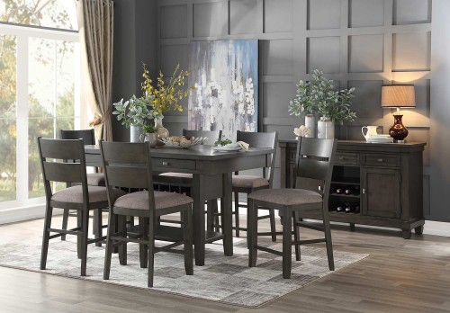 Baresford Counter Height Dining Set - Gray