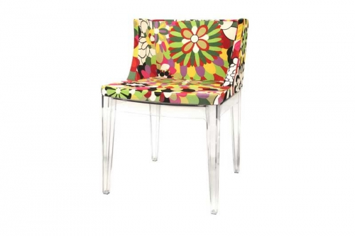 Fiore Floral Patterned Acrylic Accent Chair