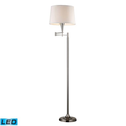 10109/1-LED Swingarm Floor Lamp - Polished Chrome