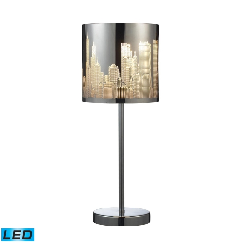 31036/1-LED Skyline Table Lamp - Polished Stainless Steel