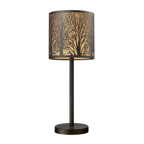 31072/1 Woodland Sunrise Table Lamp - Aged Bronze